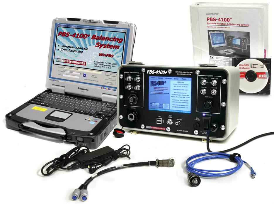 Turbine Engine Vibration Monitoring Systems : Pbs portable vibration and balancing system for