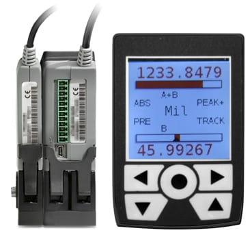 Thickness gauge with PLC