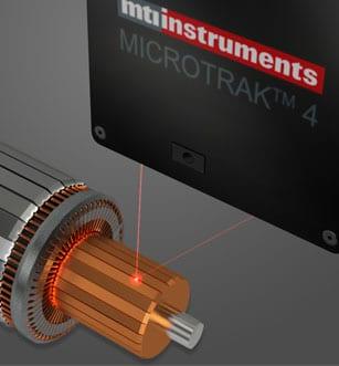 laser sensor measuring runout