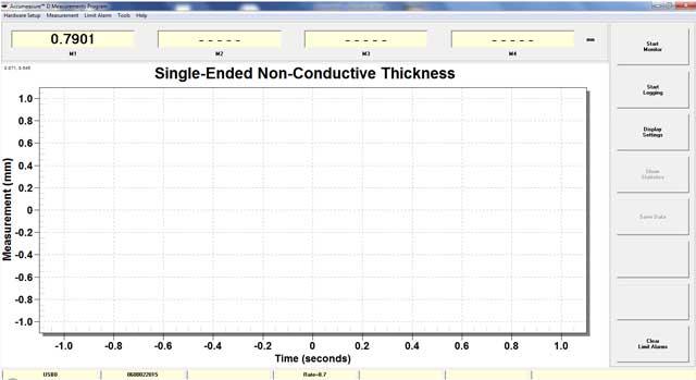 nonconductive material measurement screen