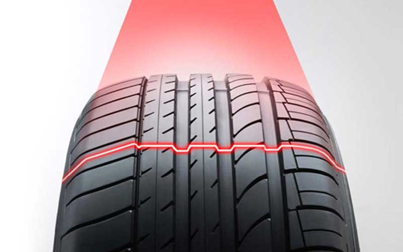 tire track measurement with 2d laser