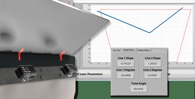 monitoring angle of sheet bending