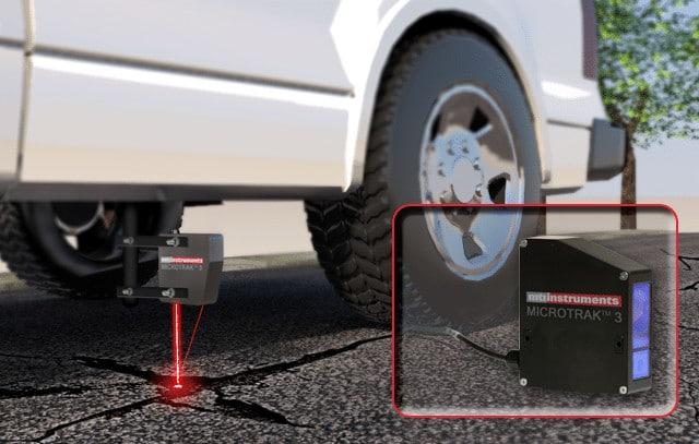 Road Quality Laser Measurement - laser mounted under vehicle