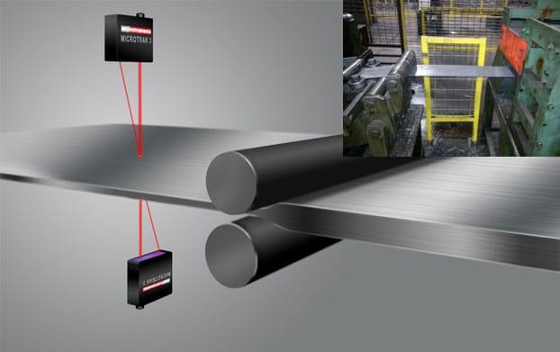 laser measuring thickness of metal sheet