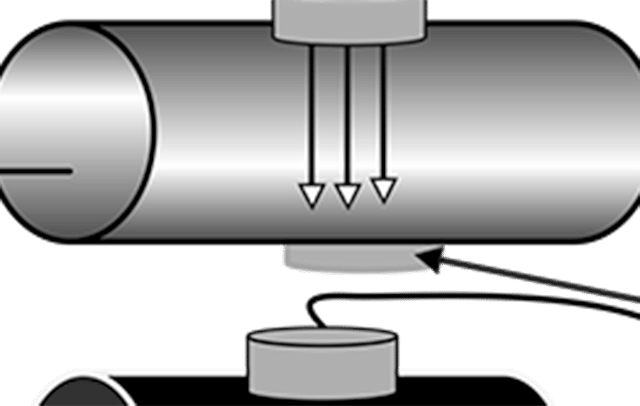 Water contamination illustration in pipe