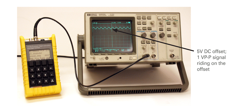 voltage offset of eddy current probes
