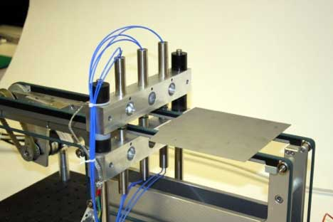 Three sets of push pull probes