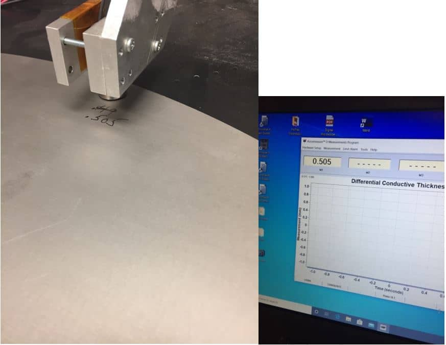 Figure 8 - Measure Stamped Sheet Metal Thickness
