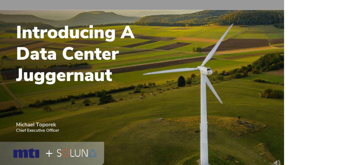 MTI Soluna Wind turbine on grass field