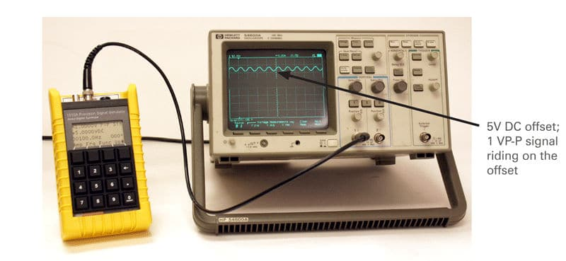 Voltage offset with Eddy Current Probe