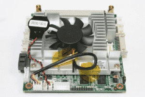 Circuit board with cooling fan attached