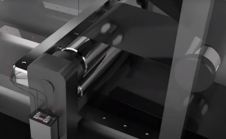 Capacitance measurement of non-woven films on a roller
